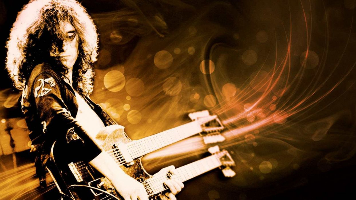 Led Zeppelin Hard Rock Classic Groups Bands Jimmy Page Robert Plant Album Covers Guitars Wallpaper