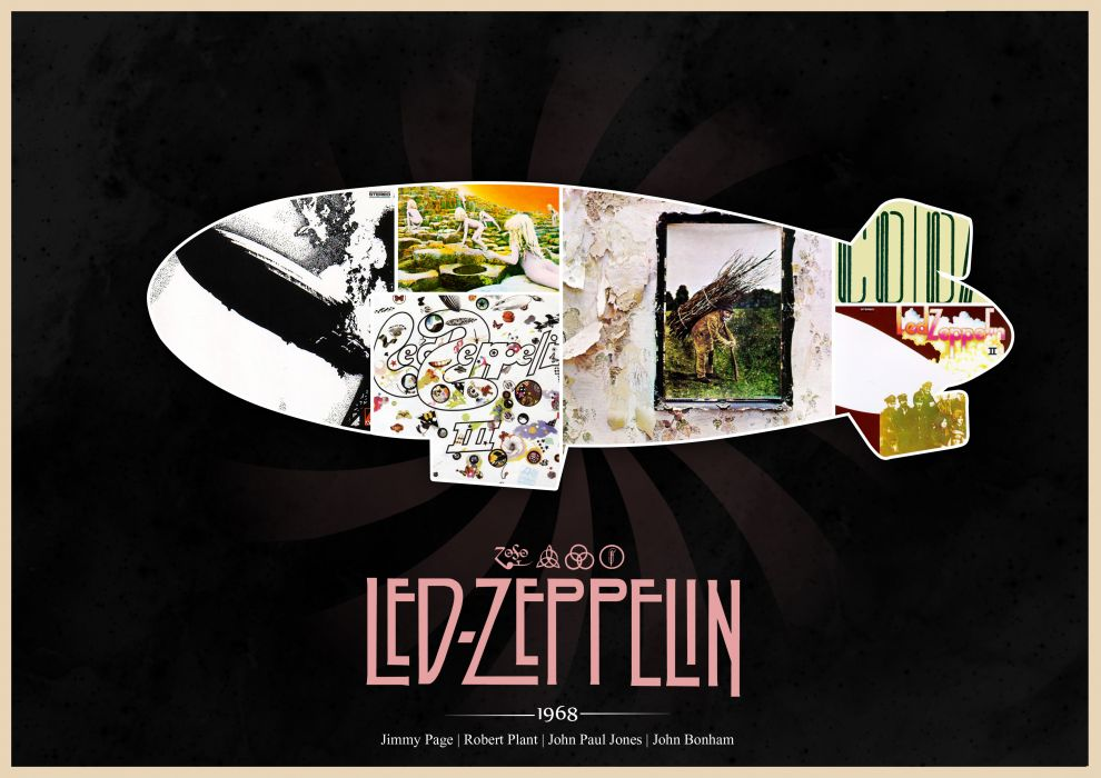 Led Zeppelin Hard Rock Classic Groups Bands Jimmy Page