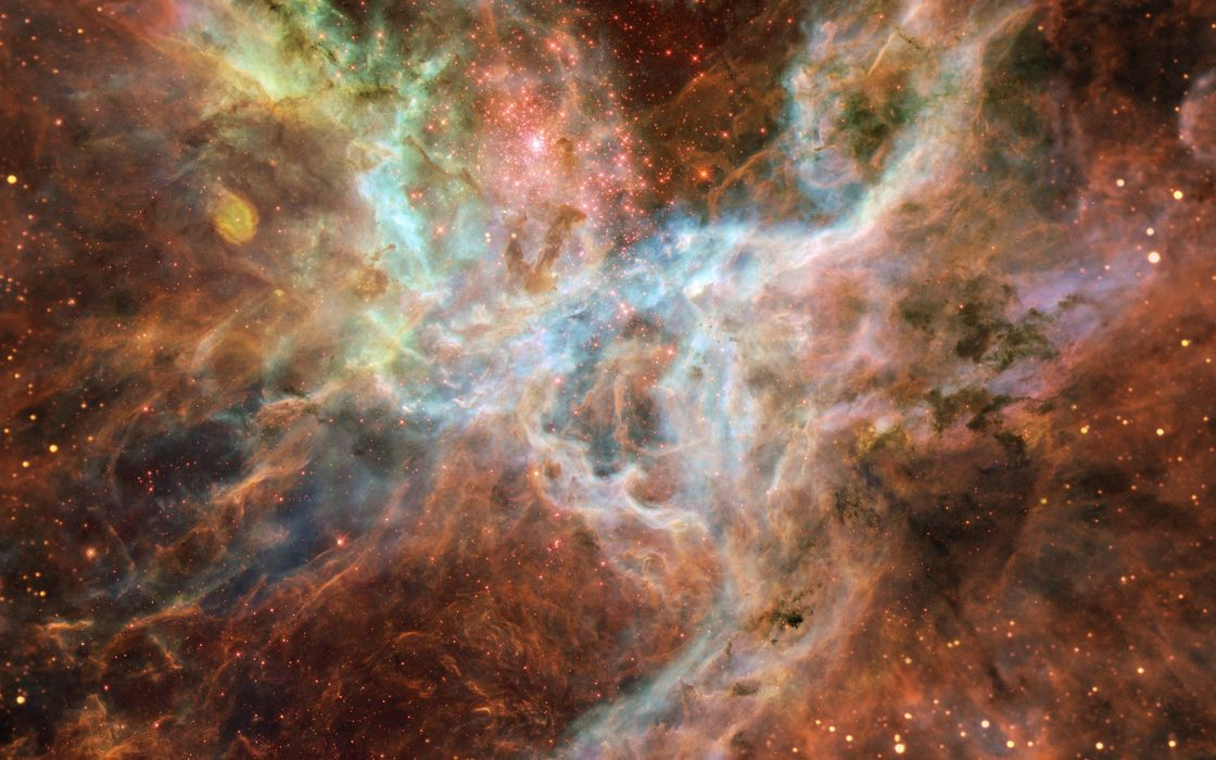 Outer space stars nebulae wallpaper