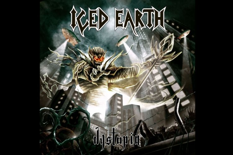 Iced Earth heavy metal hard rock groups bands album covers wallpaper