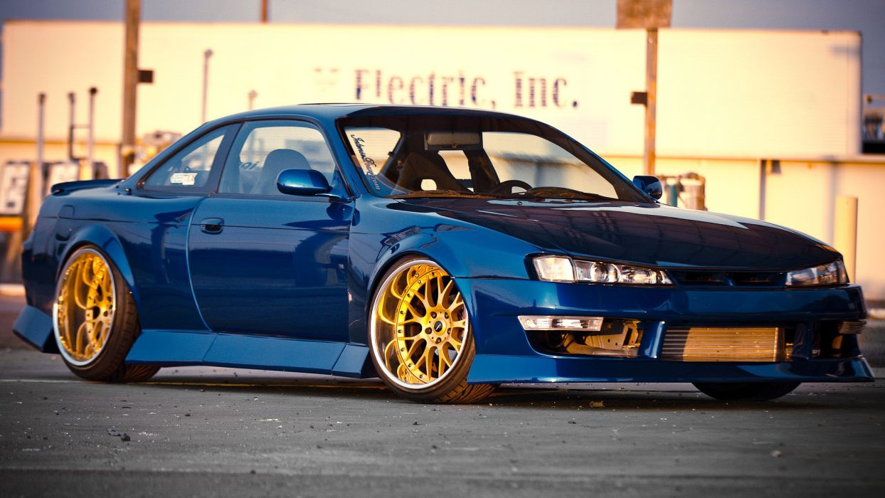 nissan s14 silvia tuning vehicles cars roads wheels rims stance color contrast wallpaper