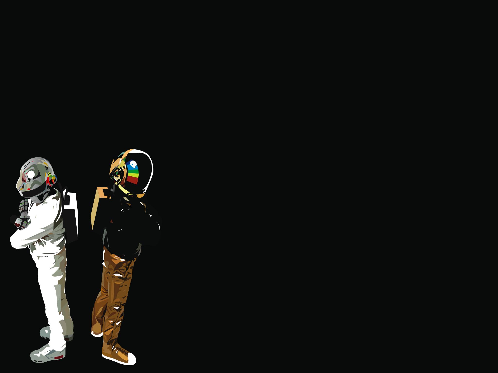 Daft Punk electronic music duo Guy-Manuel de Homem-Christo ...