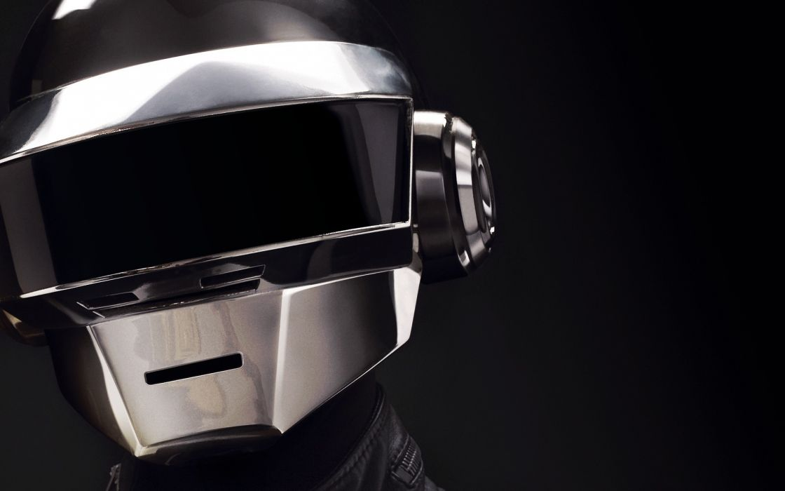 Daft Punk electronic music duo Guy-Manuel de Homem-Christo Thomas Bangalter French musicians house movement synthpop scene electronica mask helmet visor reflection color pop wallpaper