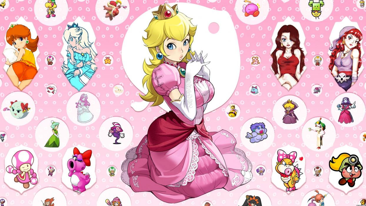 black princess peach wallpaper