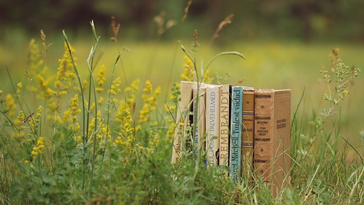 Book Grass wallpaper