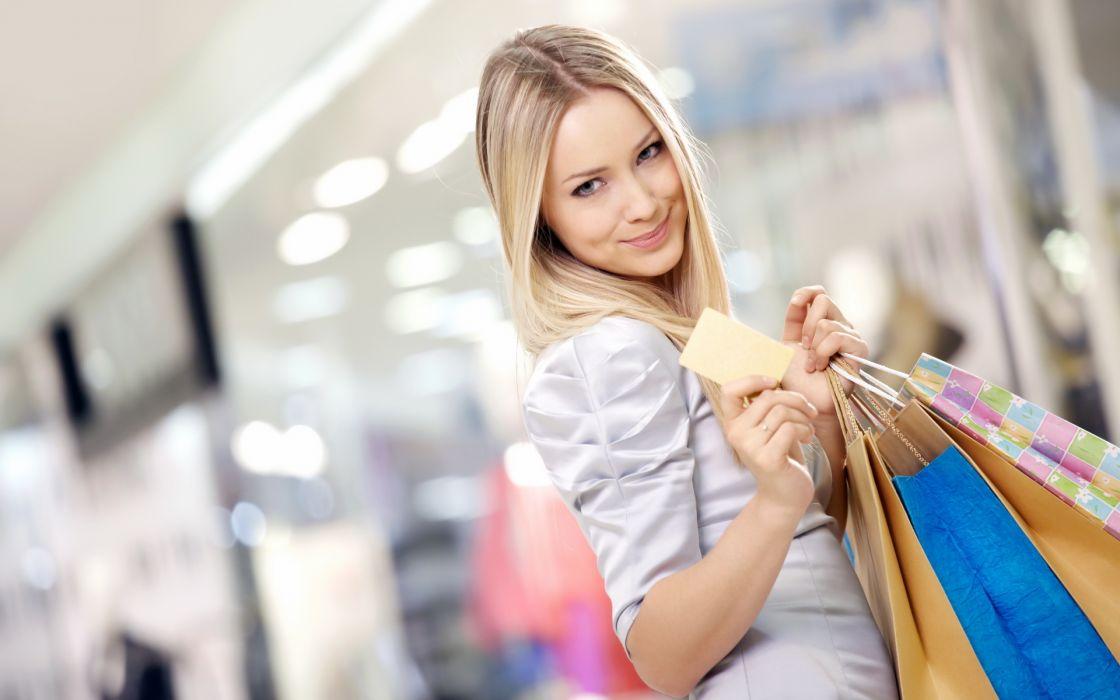 Girl-Shopping wallpaper