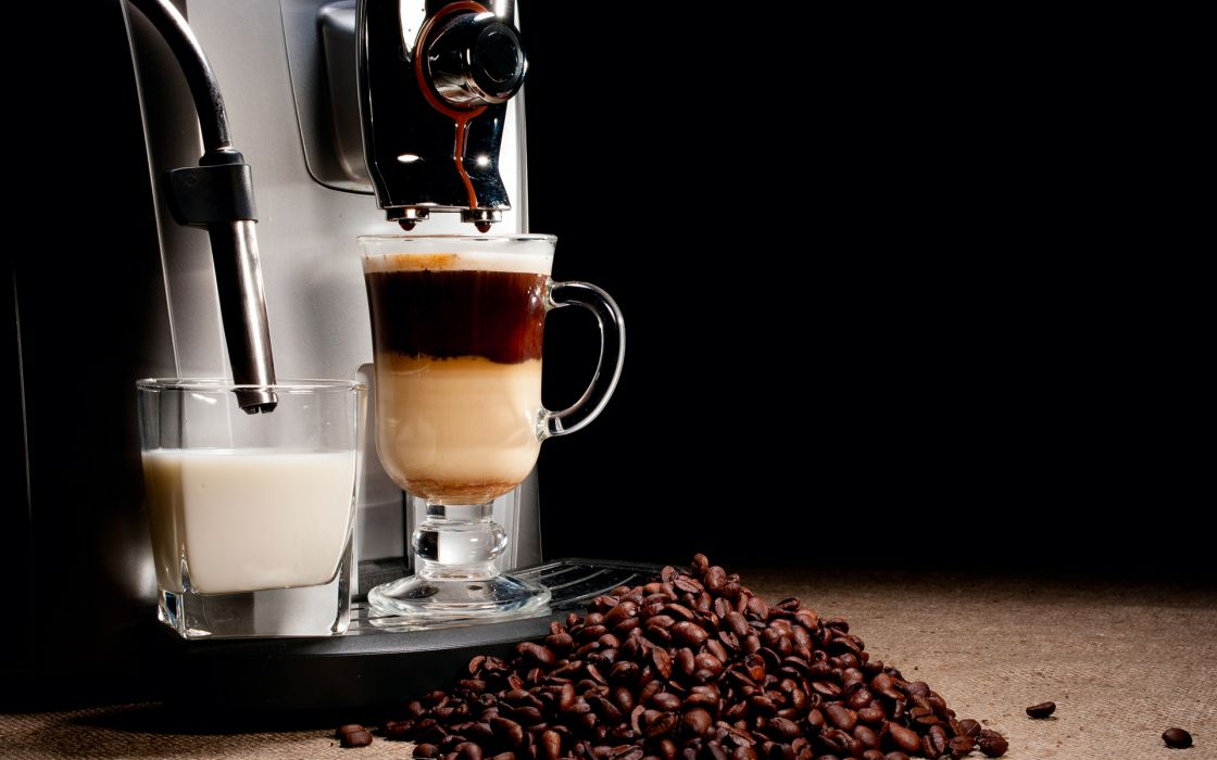 coffee machine Cappuccino Espresso coffee beans cup brown steam tech mech milk cchocolate wallpaper