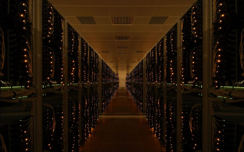 server physical computer hardware system host network dark lights glass reflection tower tech mech wallpaper