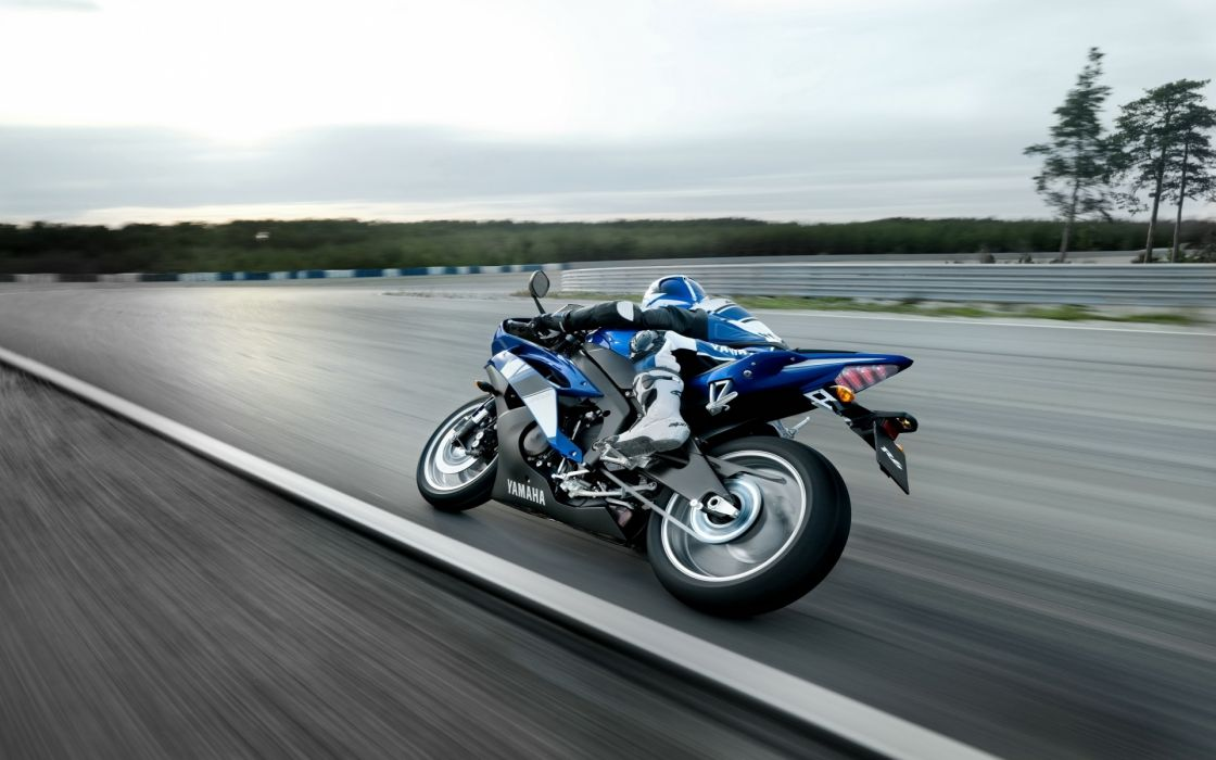 Yamaha motorcycles motorbikes racing trace race motion speed landscapes wheels people stance roads mech wallpaper