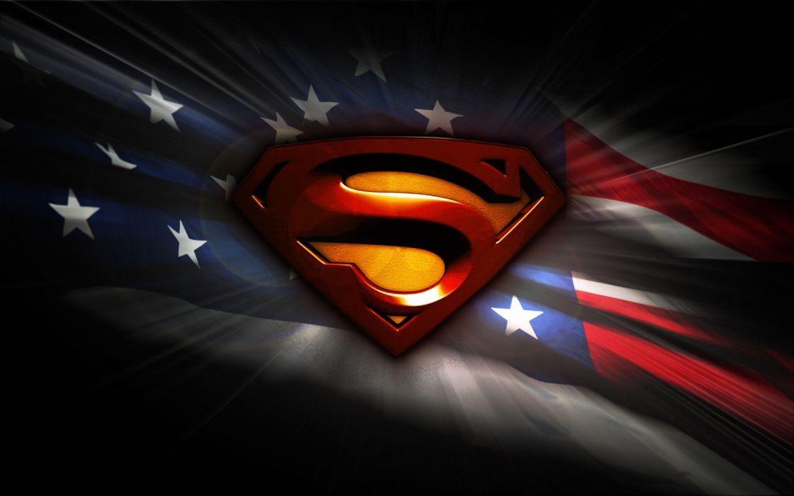tv series television movies comics superman superhero hero symbol s flags american usa stars stripes color wallpaper