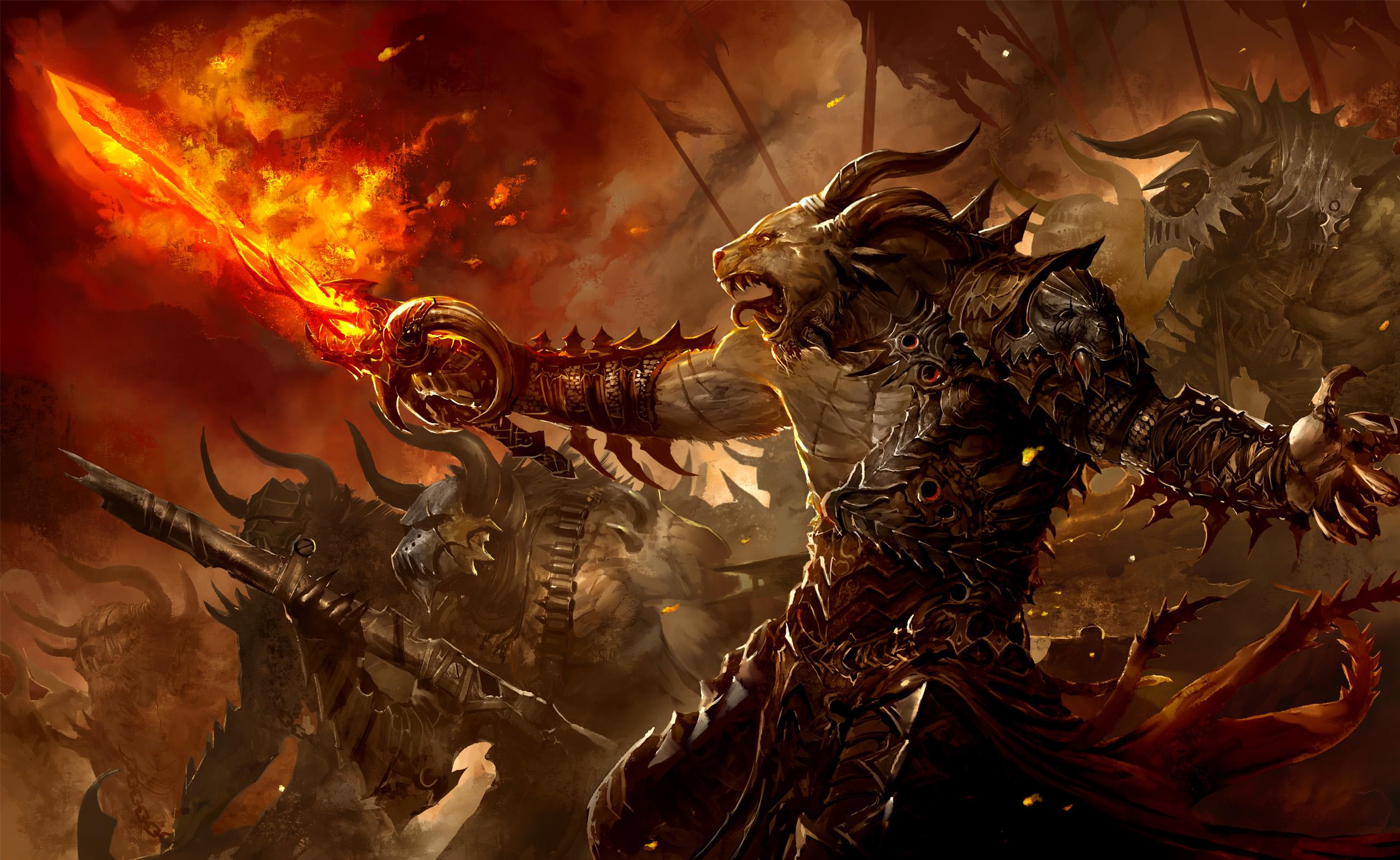 Flames army warrior soldiers dark scary evil art battle war wallpaper