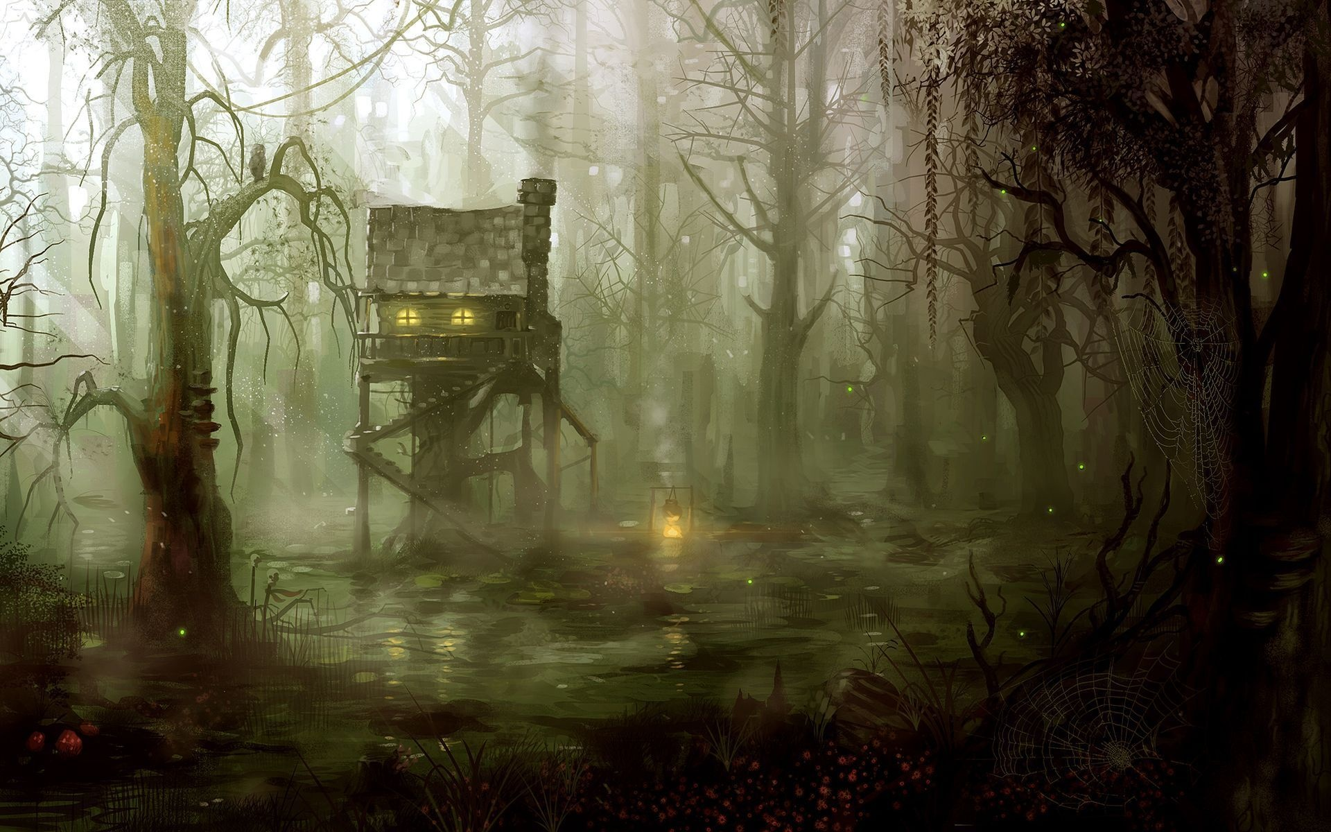 fantasy art artistic drawing painting dark spooky architecture ...