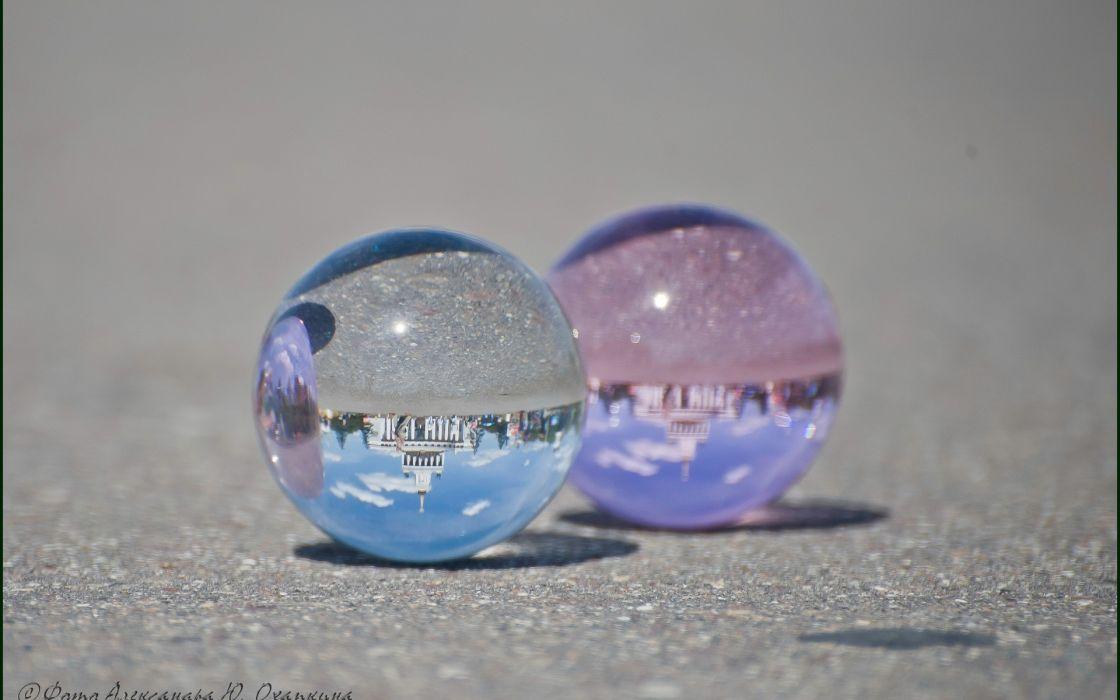 marble globe sphere glass circle see through reflection shine photography bokeh wallpaper