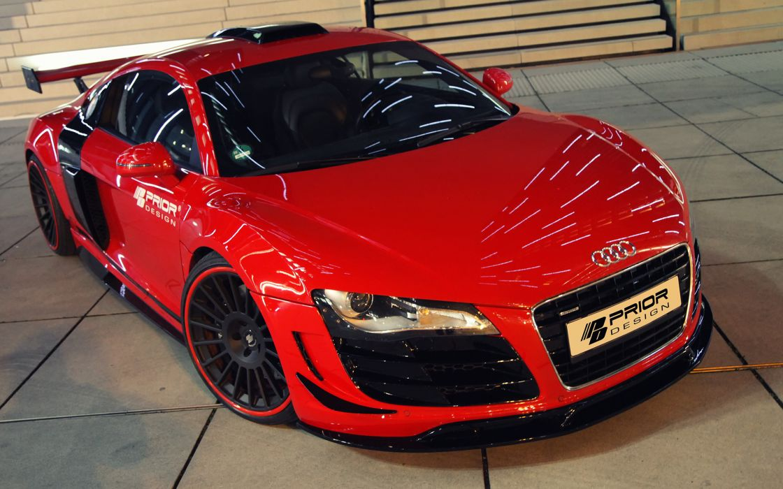 Prior-Design Audi R8 PD GT650 tuning vehicles cars custom wheels color contrast glass wings orange lights grill supercar wallpaper