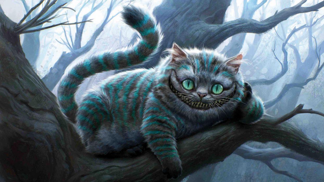 Alice In Wonderland cheshire Cat Movie wallpaper
