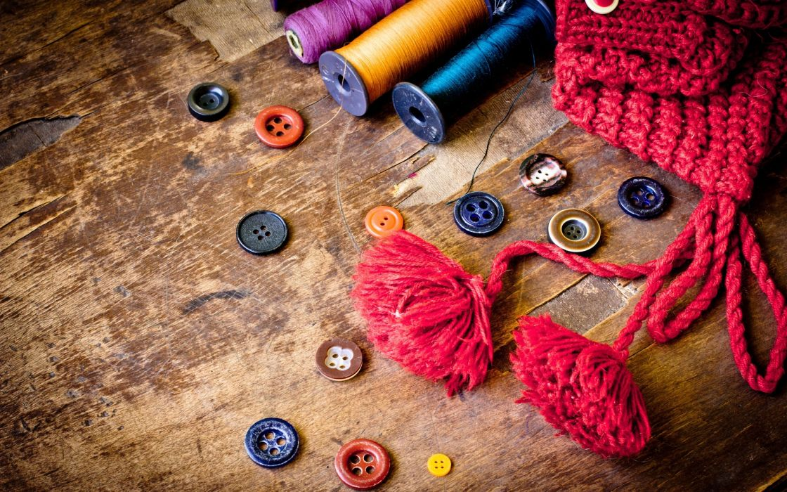 photography artistic color buttons objects abstract yarn linen thread spool circles sewing sew yarn hobby wallpaper