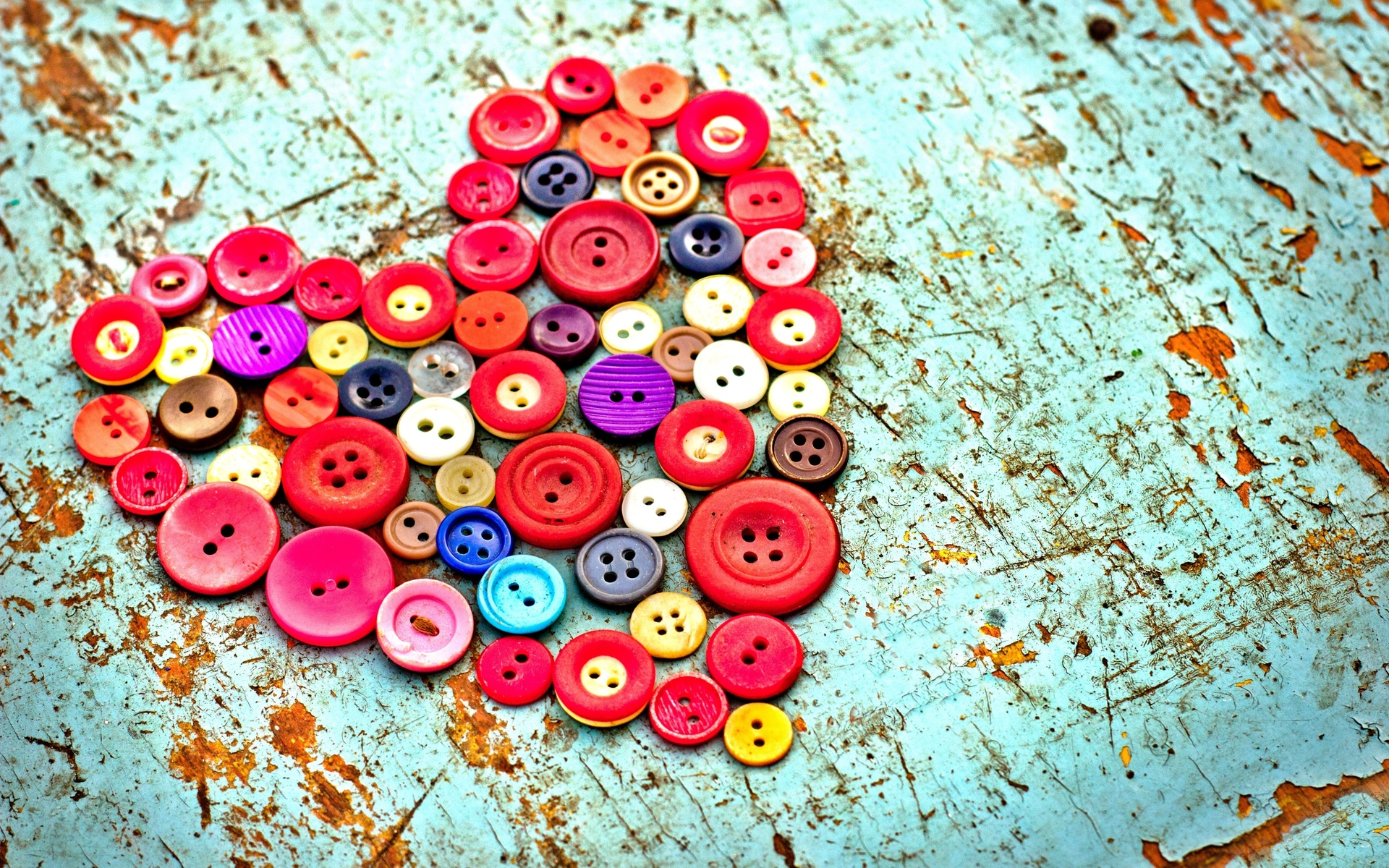 love romance heart artistic buttons color contrast emotion mood