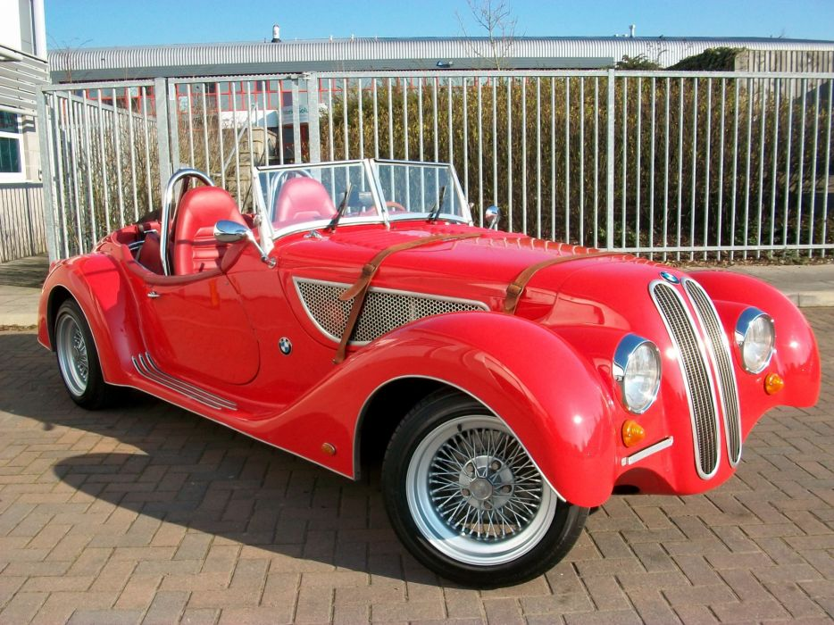 1936 BMW Sbarro 328 vehicles cars auto retro old classic red bright grill wheels chrome wallpaper