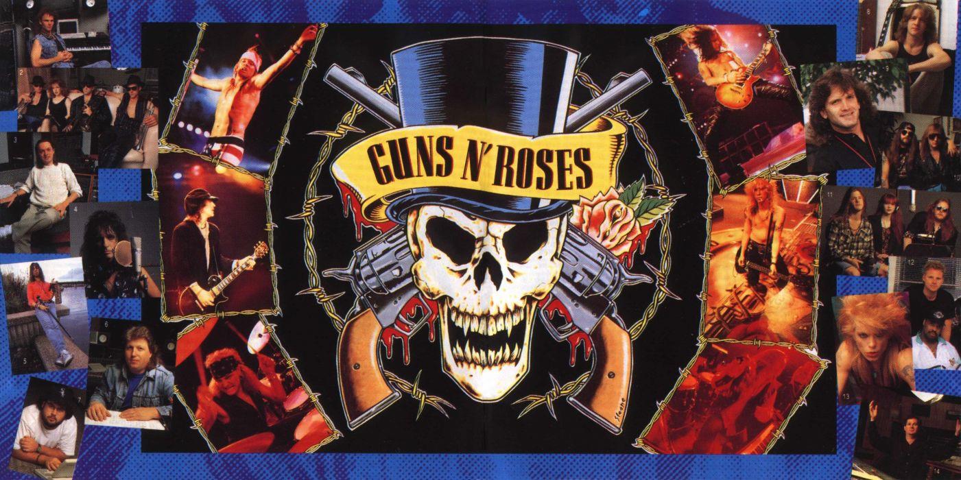 Guns N Roses heavy metal hard rock bands groups logo concert guitars wallpaper