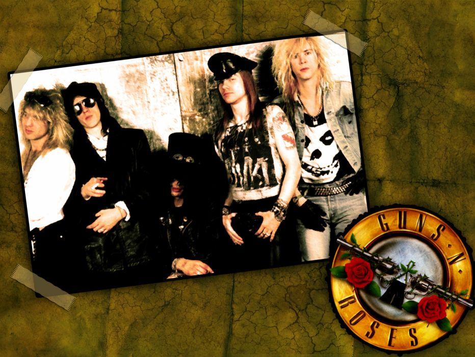 Guns N Roses heavy metal hard rock bands groups axel rose slash men males pose wallpaper