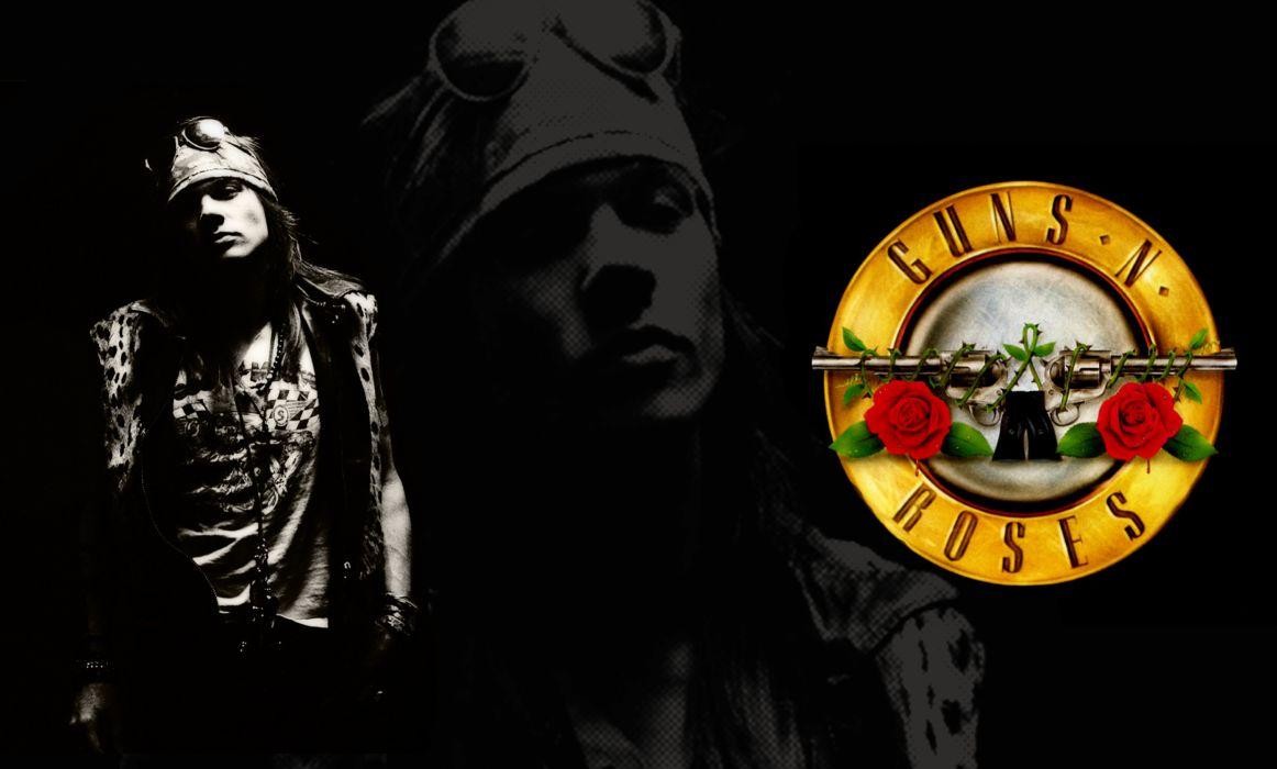 Guns N Roses heavy metal hard rock bands groups album cover axel rose men males logo wallpaper
