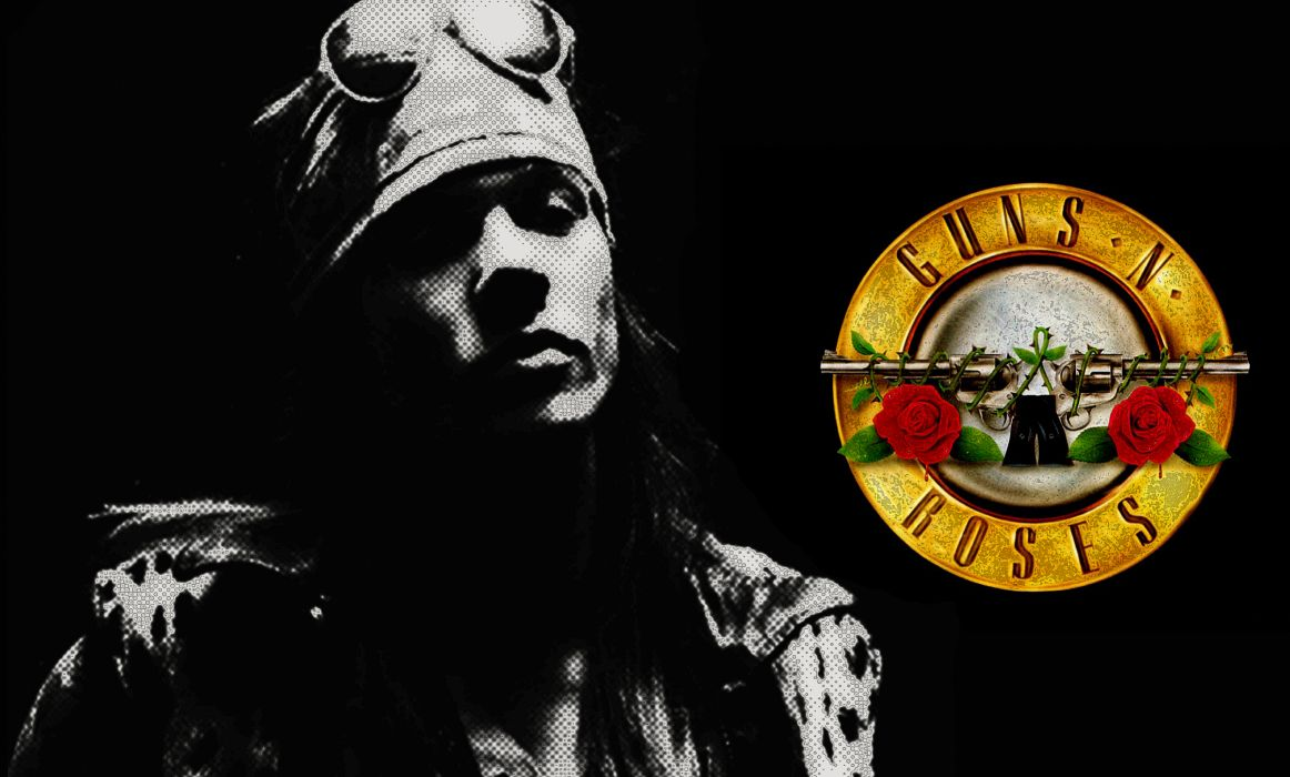 Guns N Roses heavy metal hard rock bands groups album cover logo axel rose wallpaper