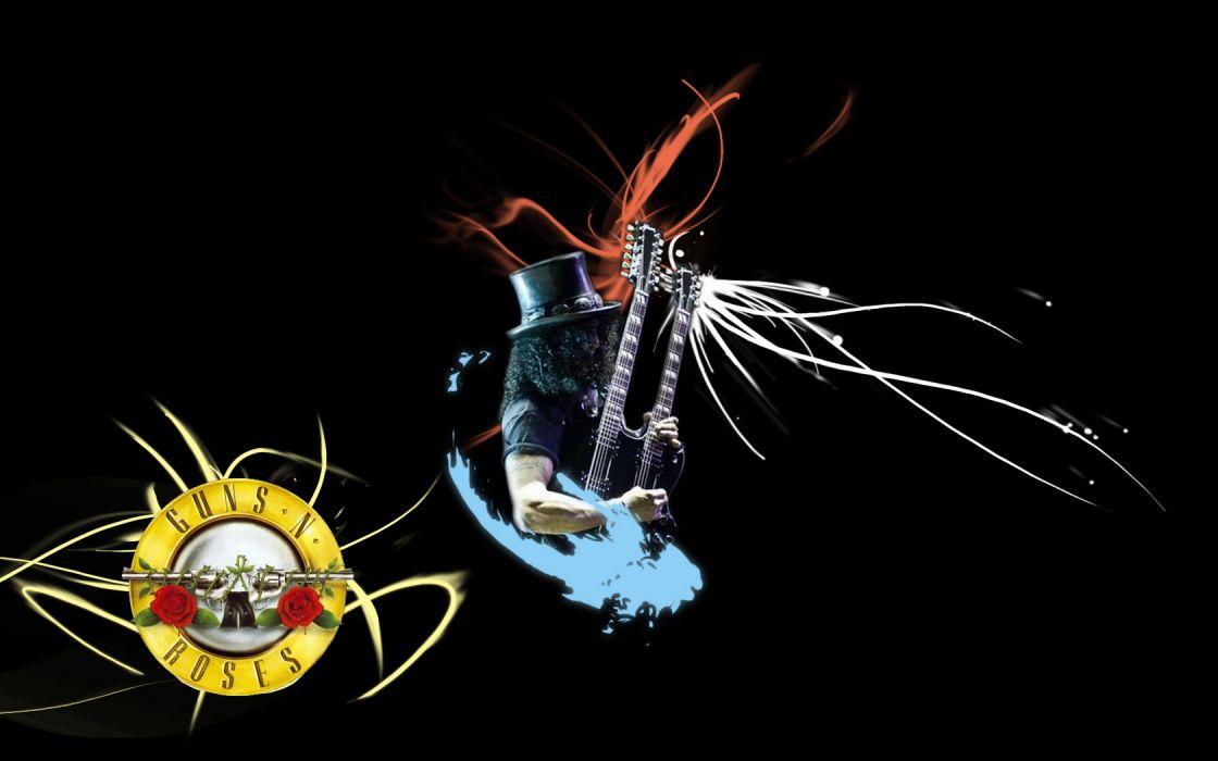 Guns N Roses heavy metal hard rock bands groups album cover slash guitars men males wallpaper