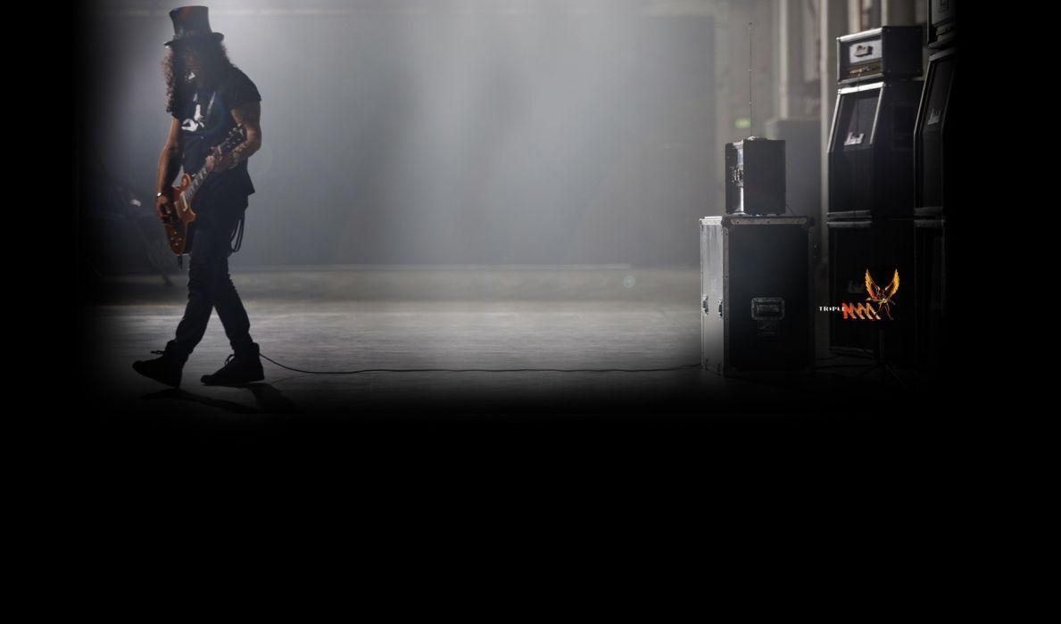 Guns N Roses heavy metal hard rock bands groups slash men males concert guitars wallpaper