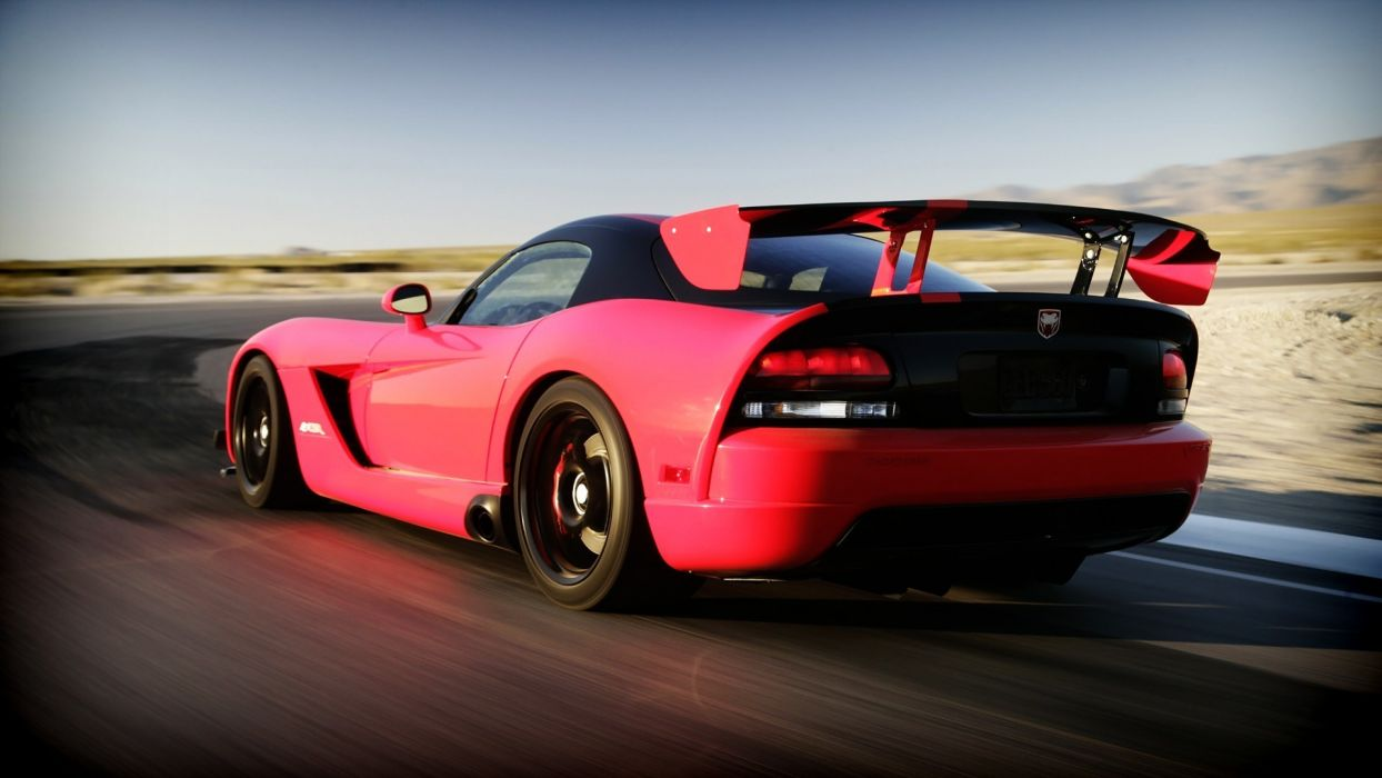 Dodge Viper vehicles cars exotic tuning wings color wheels pink roads race track racing motion supercar wallpaper