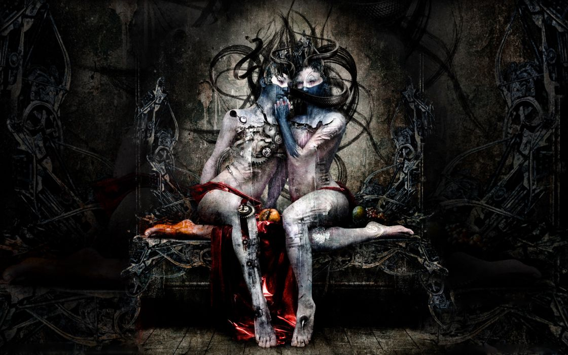 Kamelot Poetry For The Poisoned heavy metal hard rock album cover groups bands sci fi science fiction robot cyborg mech tech women females girls dark creepy spooky scary psychedelic blood strange art artistic evil occult wallpaper