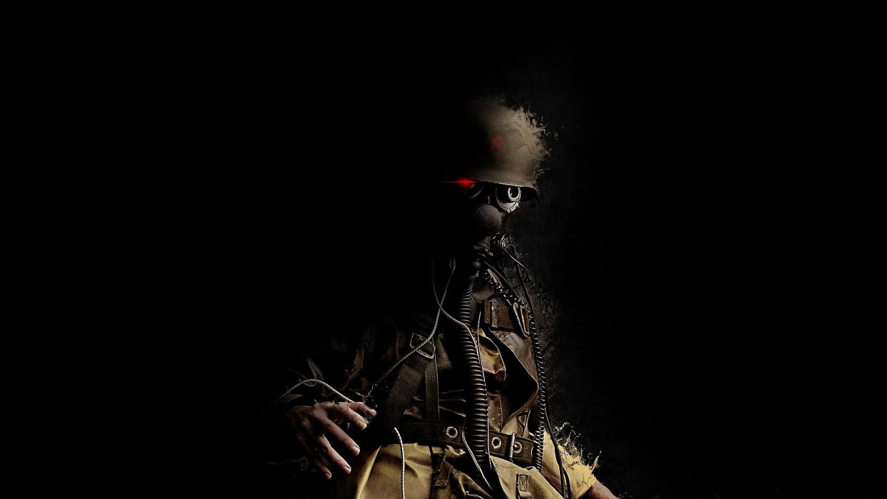 gas mask military soldiers warriors anarchy glasses goggles dark revolution uniform people helmet sci fi science fiction cyborg demon spooky scary creepy wallpaper