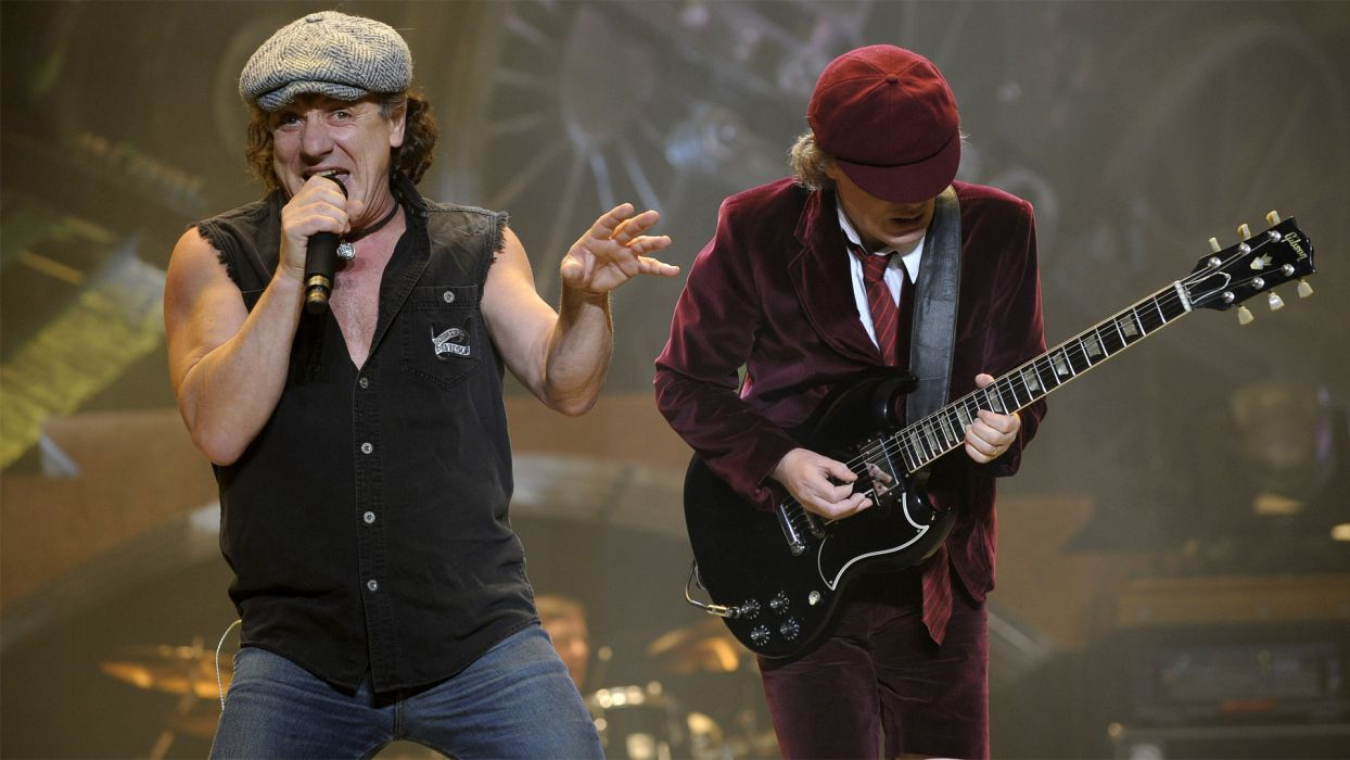 AC/DC ac dc acdc heavy metal hard rock classic bands groups entertainment men people male concert guitars wallpaper