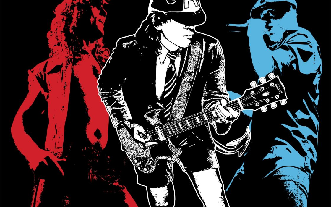 AC/DC ac dc acdc heavy metal hard rock classic bands groups entertainment men people male logo album covers guitars concert singers wallpaper