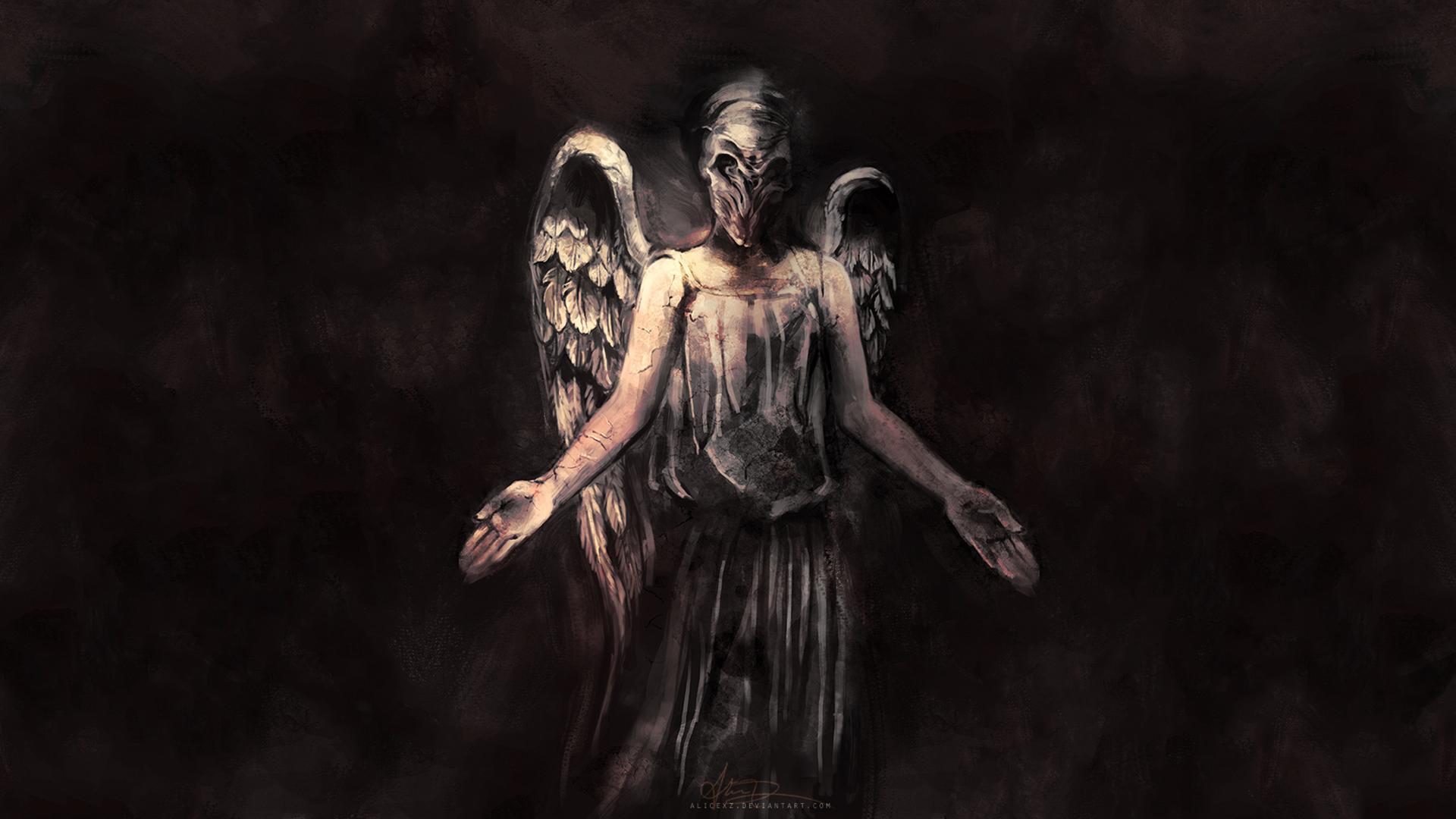 scary image of angel - photo #2
