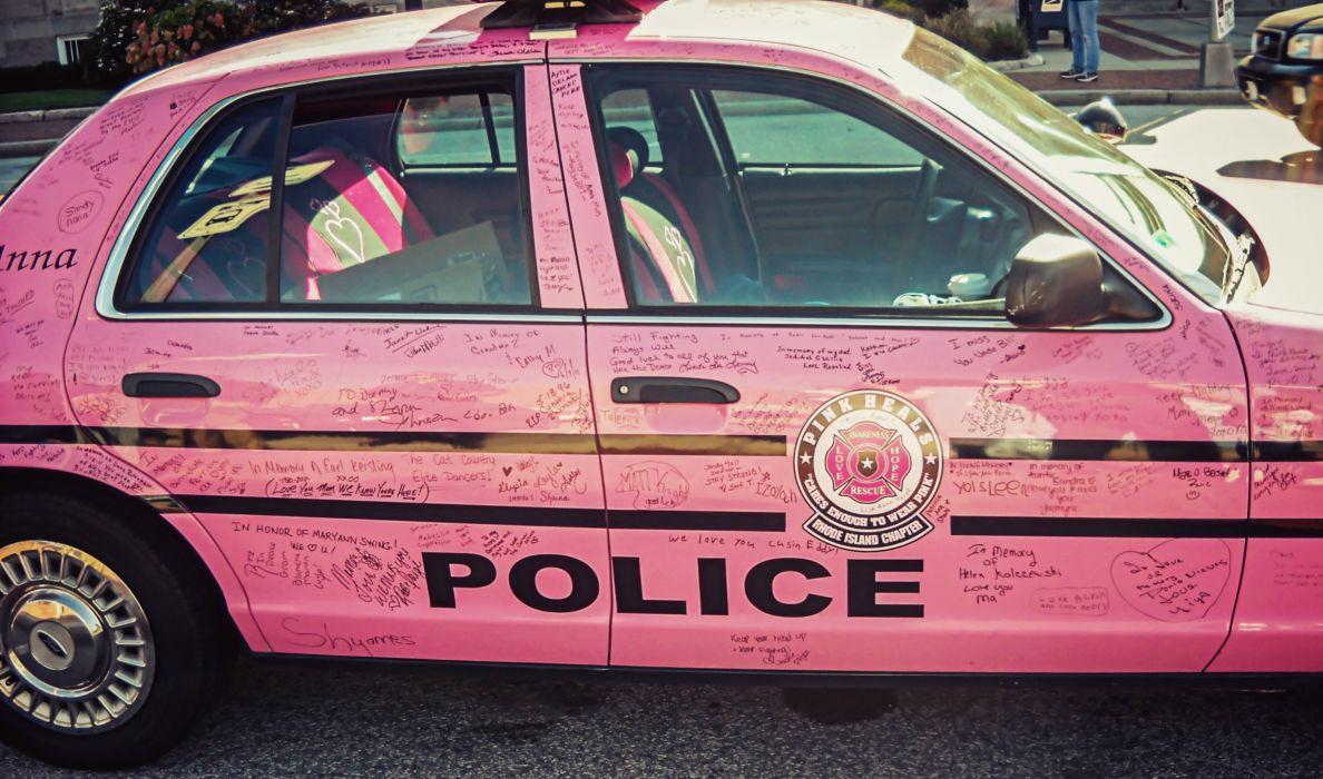 Pink_Police_Car wallpaper