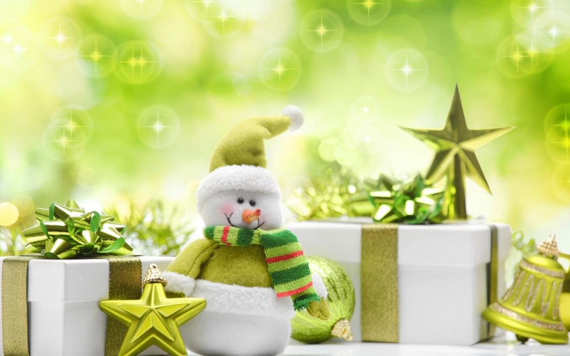 holidays christmas new year snowman wallpaper