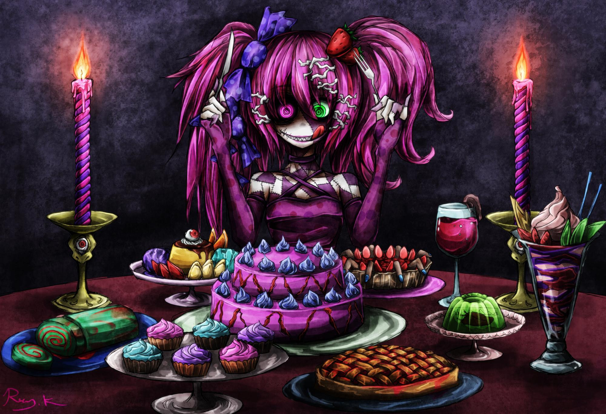 Vocaloid hatsune miku dark horror macabre games food