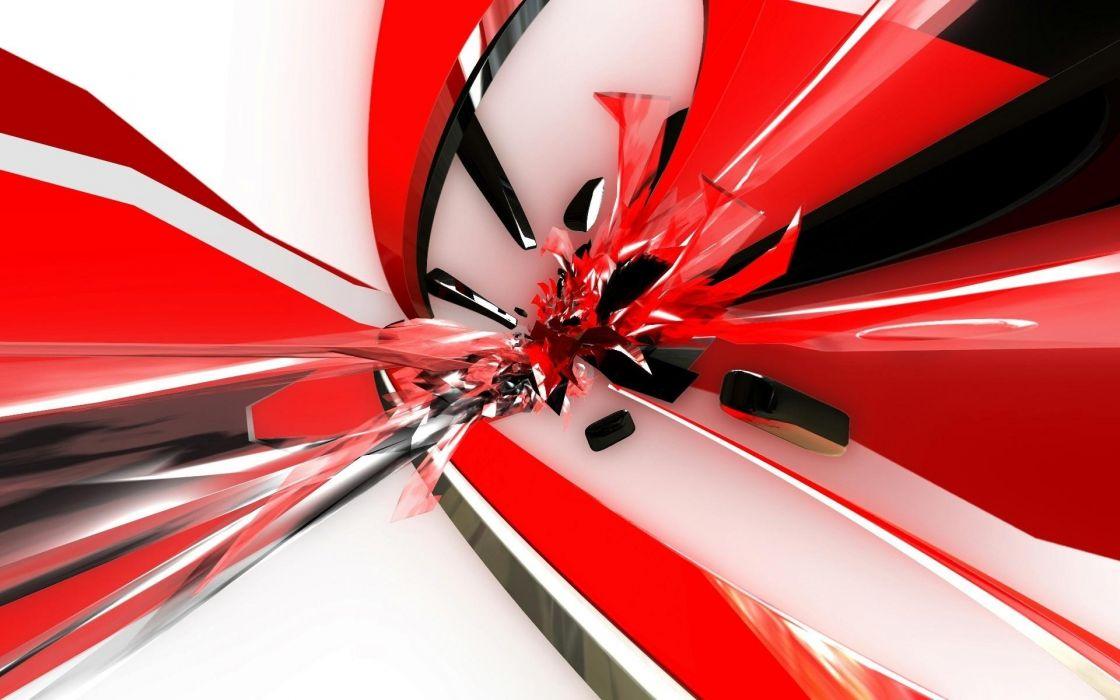 abstract cg digital art color contrast shapes gloss shine art wallpaper