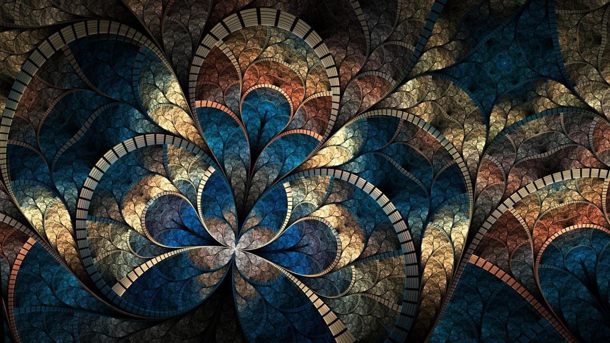 abstract fractal cg digital art artistic pattern psychedelic wallpaper