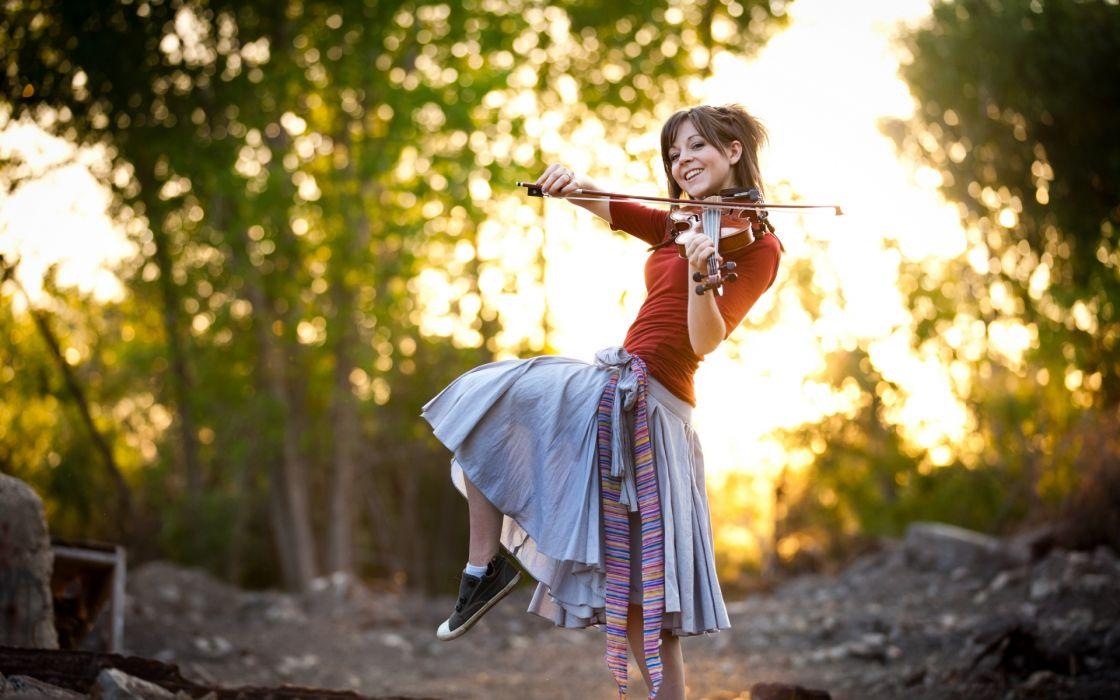 Lindsey Stirling music musician violin musical instrument women females girls babes sensual brunette pose style wallpaper