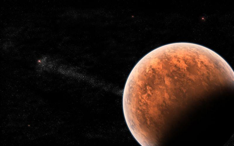 nature space universe planets mars moon stars sci fi science fiction cg digital art wallpaper