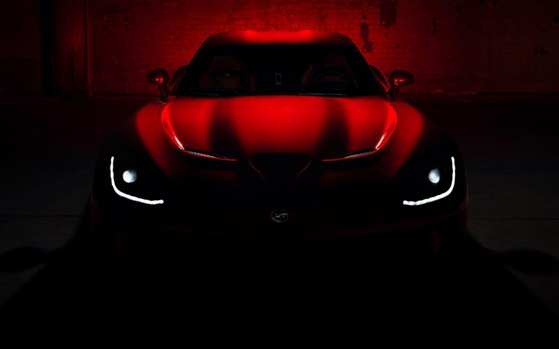 Dodge SRT Viper GTS vehicles cars concept red glow dark lights supercar wallpaper