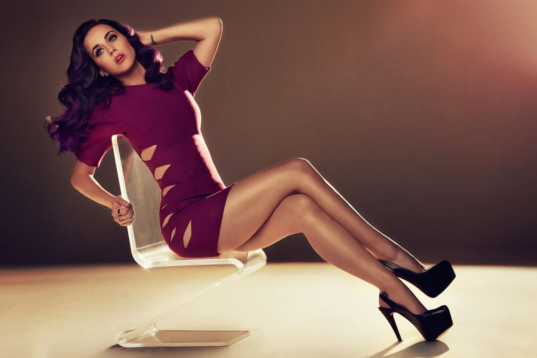Katy Perry singer music musician groups tattoo legs brunette boobs cleavage breast dress style fashion face pose women females girls babes sexy sensual wallpaper