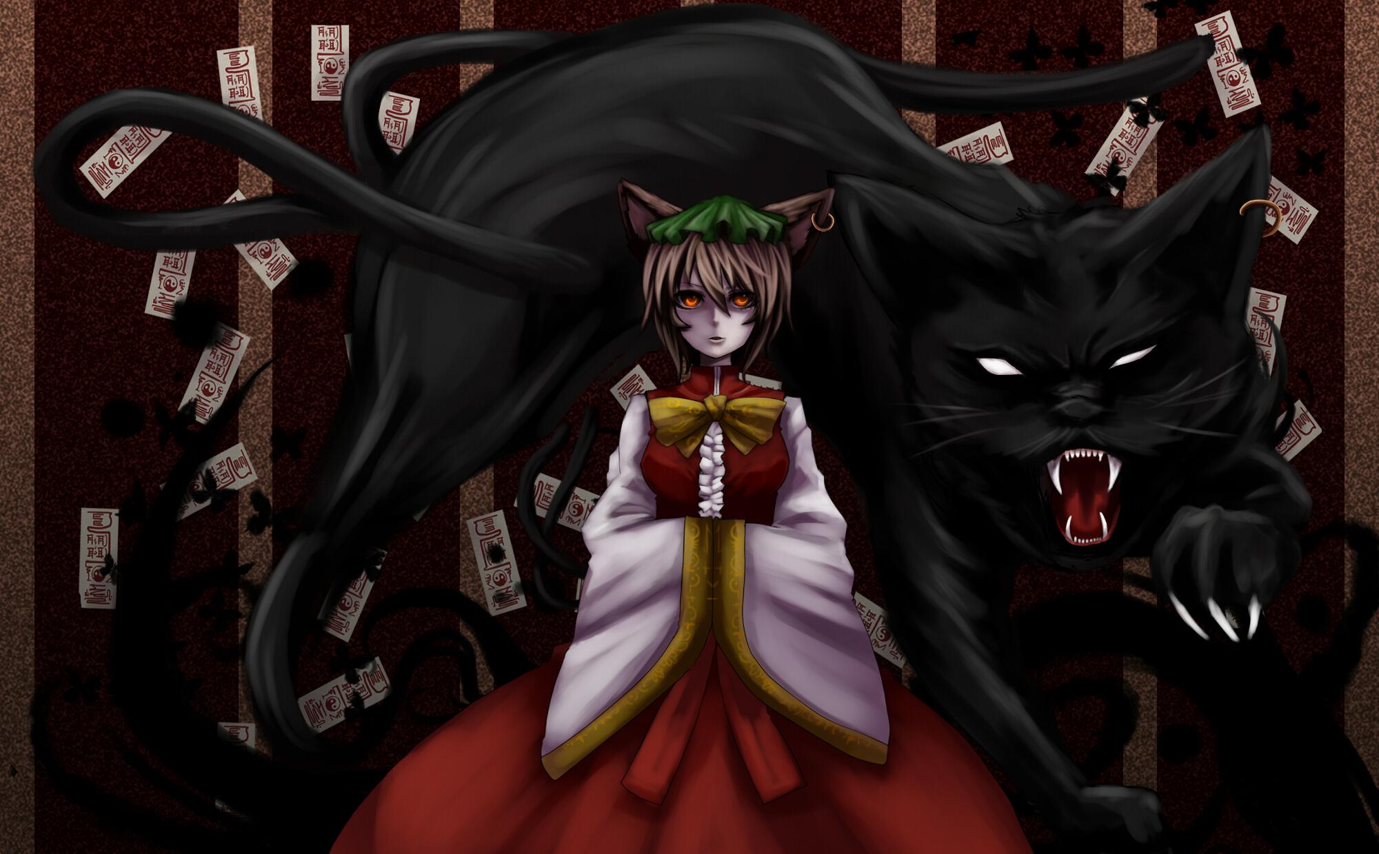 Черная девушка кошка аниме 18 фотография
