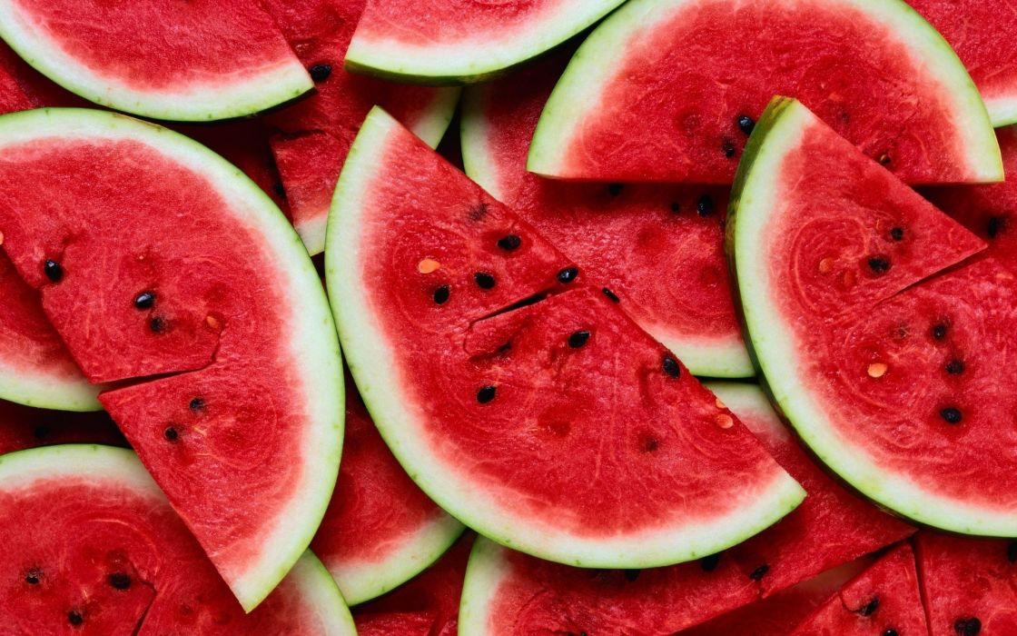watermelon fruit food color red seeds collage wallpaper