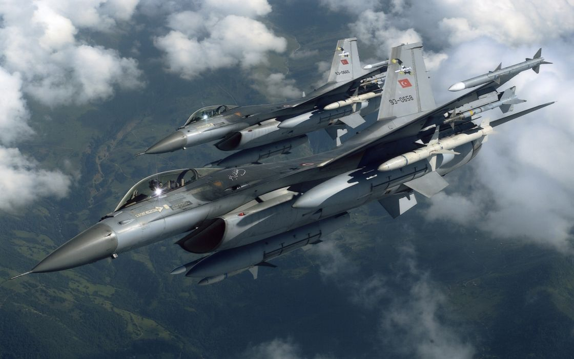 military jet fighters airplane aircraft wings flight weapons bombs fly pilot people warriors soldiers sky clouds wallpaper