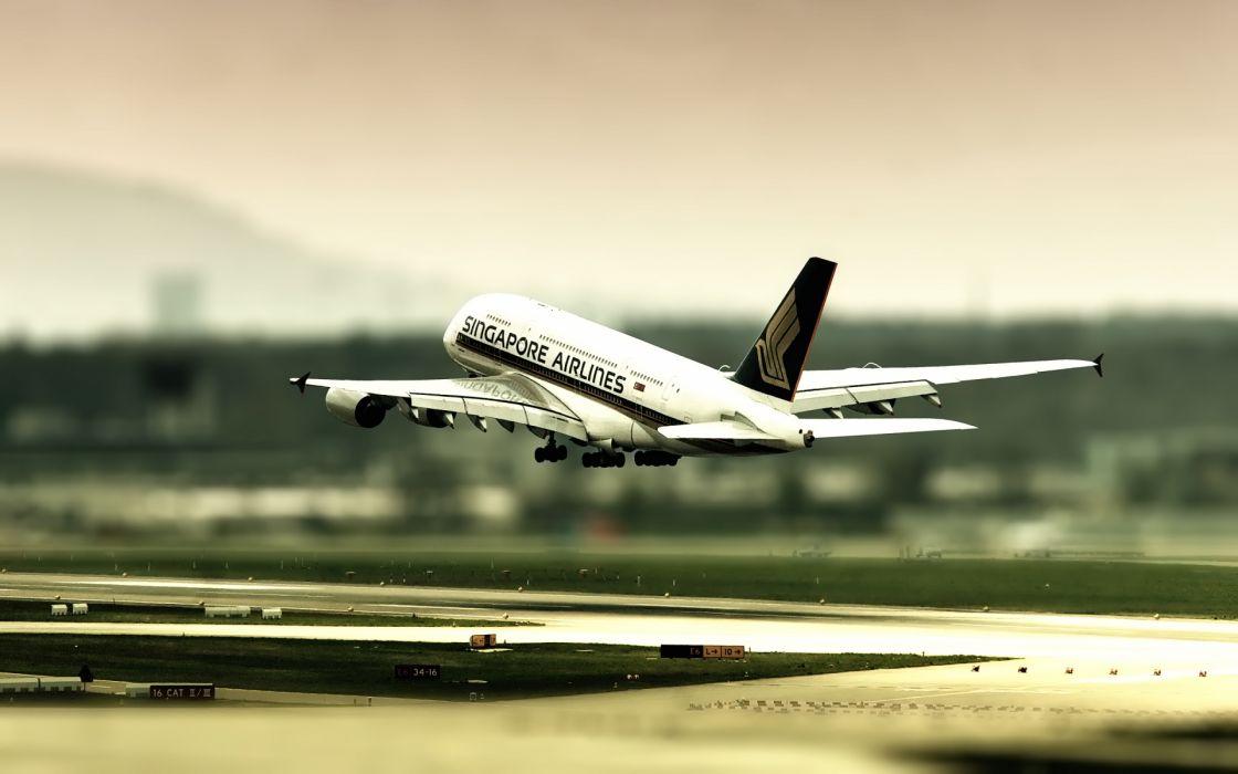 vehicles aircraft airplane tilt shift wings roads runway jet airliner wallpaper