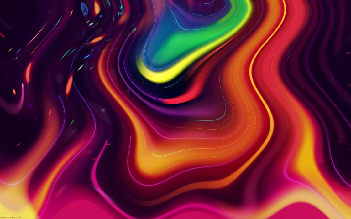 Abstract Swirls Wallpapers Hd Desktop And Mobile: Abstract Swirl Colors Psychedelic Bright Wallpaper