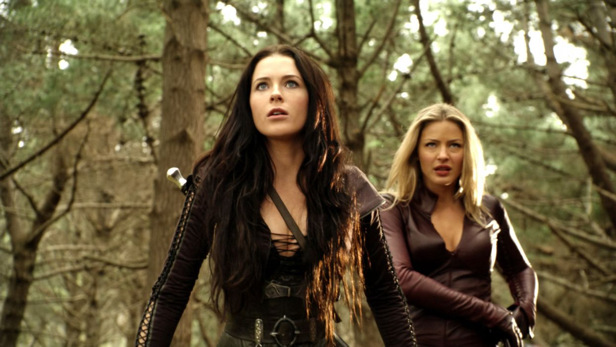 Legend of the Seeker Terry Goodkind Kahlan Amnell Bridget Regan Cara Tabrett Bethell actress fantasy women females girls babes brunette blonde boobs leather face trees forest television people wallpaper