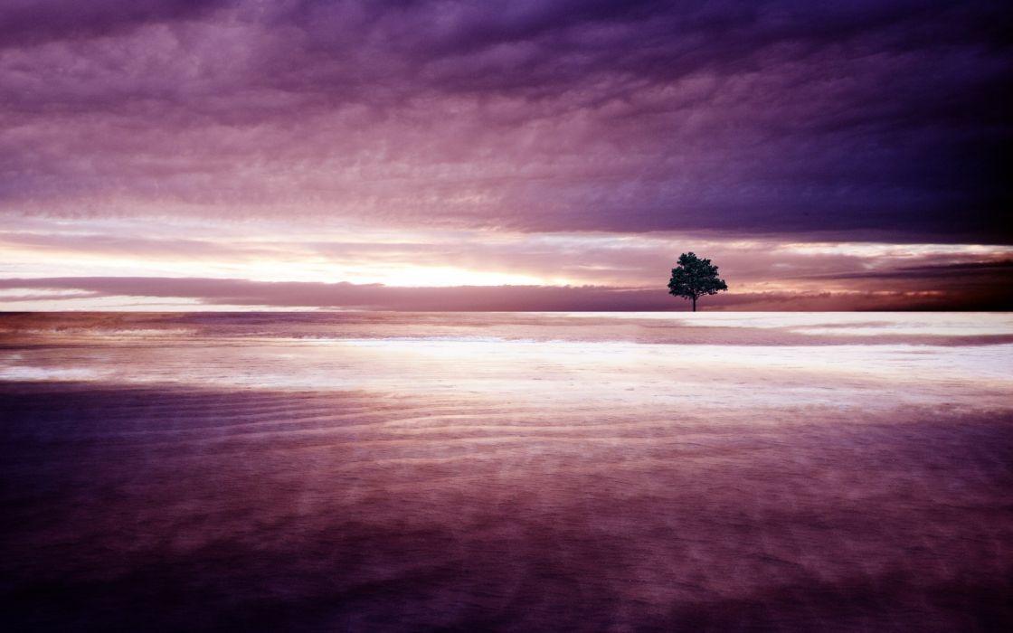 nature lakes water ocean sea ripple timelapse trees scenic light glow sunlight sky clouds sunrise sunset wallpaper